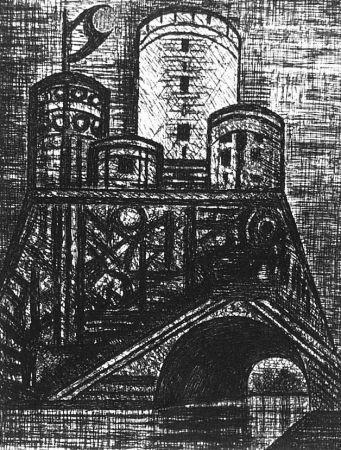 Acquaforte Gromaire - Le Donjon du Dunsinane