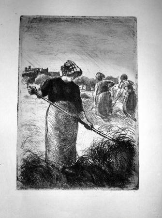 Acquaforte Pissarro - Le Faneuses
