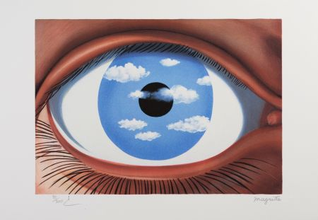 Litografia Magritte - Le Faux Miroir (The False Mirror)