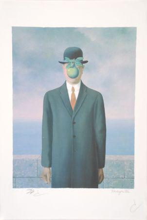 Litografia Magritte - Le Fils de l'Homme - The Son of Man
