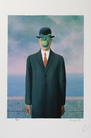 Litografia Magritte - Le Fils De L'Homme (The Son Of Man)