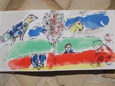 Litografia Chagall - Le fleuve vert