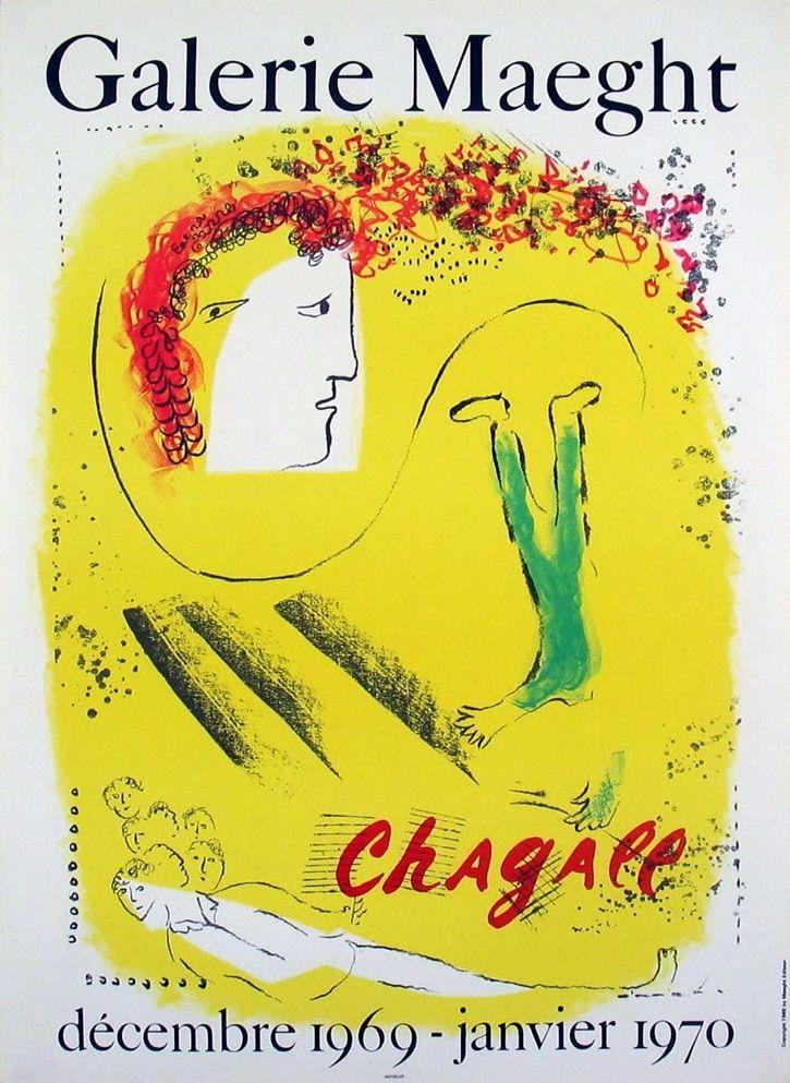 Litografia Chagall - Le Fond jaune