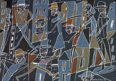 Litografia Segui - Le froid bleu des contre nuits 2