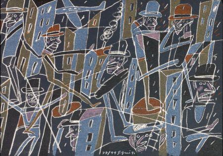 Litografia Segui - Le froid bleu des contre nuits 6