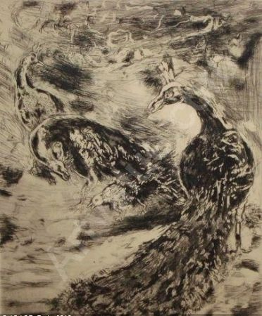 Acquaforte E Acquatinta Chagall - Le Geai Pare des Plumes du Paon