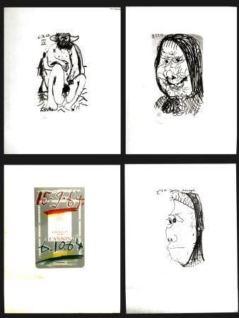 Litografia Picasso - LE GOUT DU BONHEUR (4 PIECES)