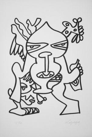 Litografia Lapicque - Le Grand chef