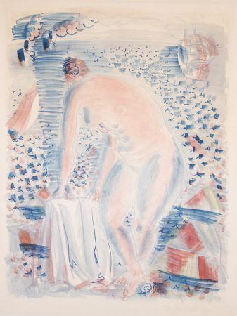Litografia Dufy -  Le grande Baigneuse (The large Bather)