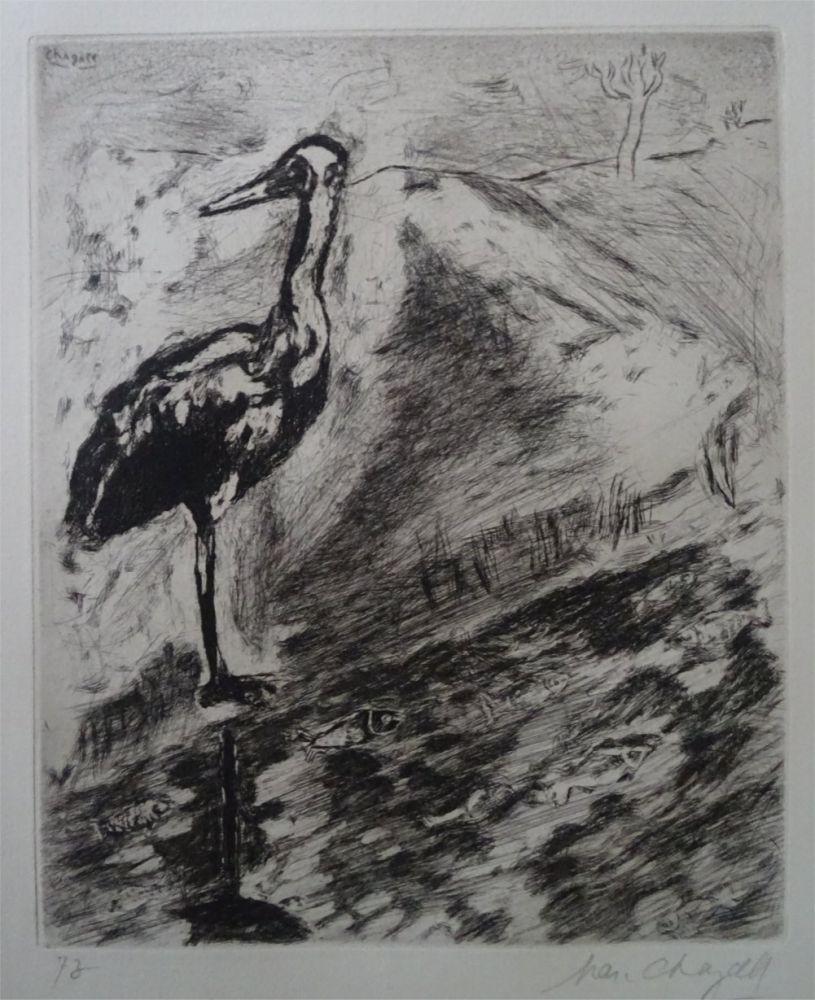 Acquaforte Chagall - Le Heron