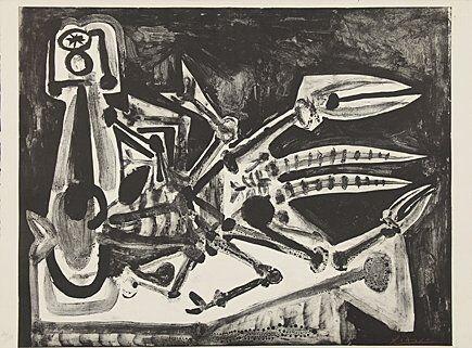 Litografia Picasso - Le homard (Der Hummer)