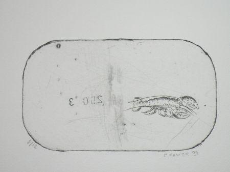 Acquaforte Favier - Le homard (série des mousselines)