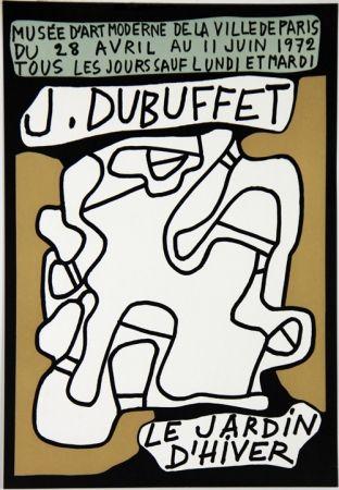 Litografia Dubuffet - Le Jardin D'Hiver Musee d'Art Moderne de Paris