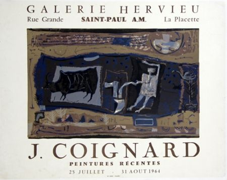 Litografia Coignard - Le Laboureur Galerie Hervieu Saint Paul