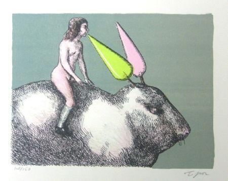 Litografia Topor - Le lapin