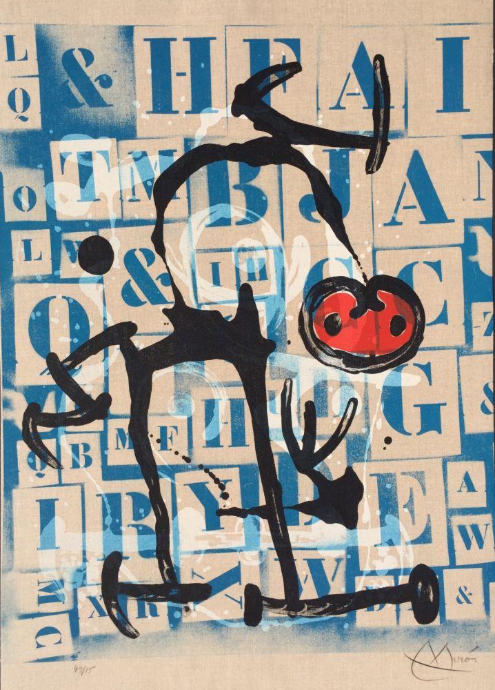 Litografia Miró - Le Lettre - Rouge