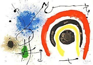 Litografia Miró - Le lezard aux plumes d'or