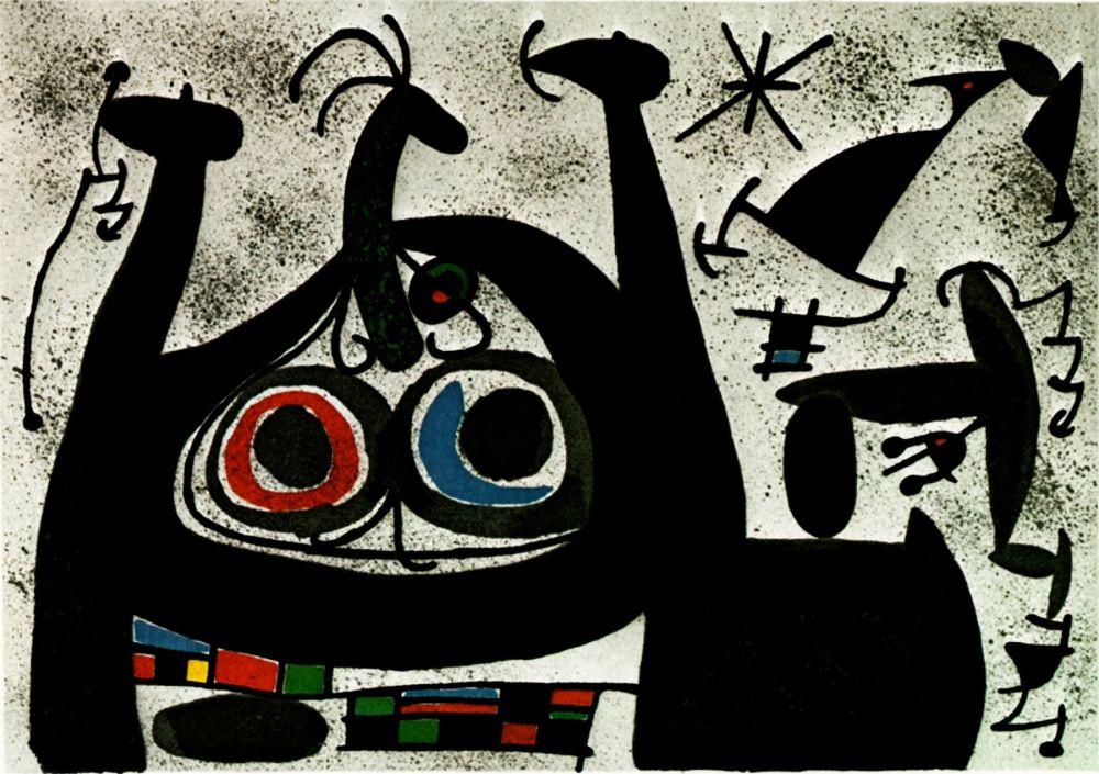 Litografia Miró -  Le Lezard aux plumes d'or - Arc-en-ciel  - (Maeght 818)