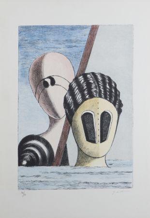 Litografia De Chirico - Le Maschere