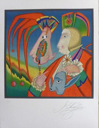 Litografia Chemiakin - Le masque de Carnaval