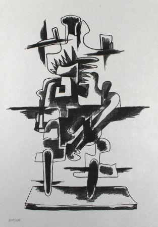 Litografia Zadkine - Le merveilleux radeau