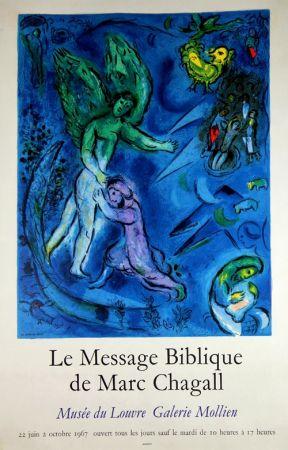 Litografia Chagall - Le Message Biblique Musee Du Louvre Galerie Mollien
