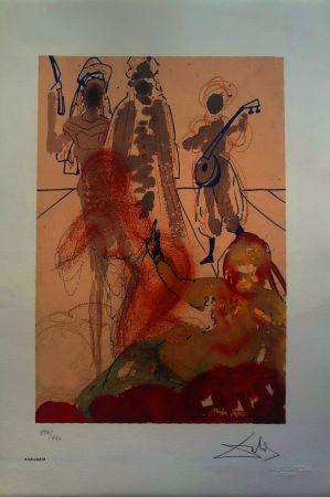 Litografia Dali - Le mille e una notte (Il Sultano)