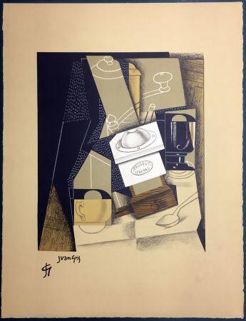 Litografia Gris  - Le moulin à café. Lithographie (1955).