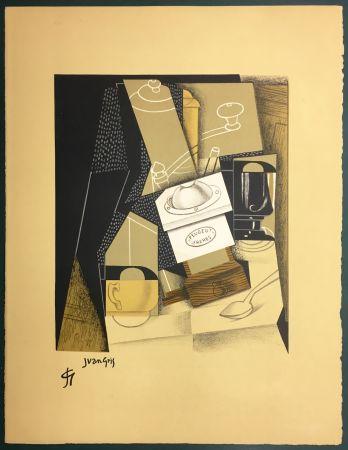 Litografia Gris  - Le moulin à café. Lithographie. 1955