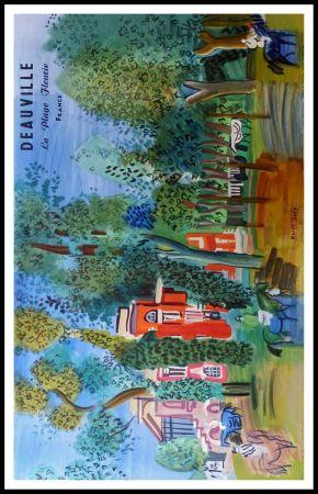 Litografia Dufy - LE PADDOCK A DEAUVILLE