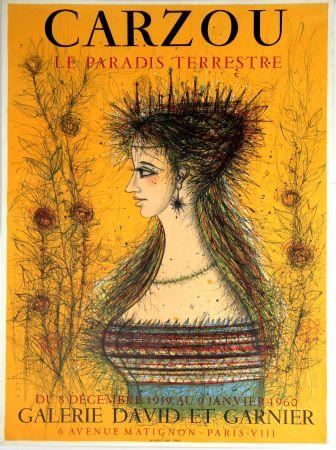 Litografia Carzou - Le Paradis Terrestre  Galerie David et Garnier