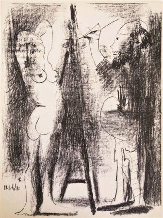 Litografia Picasso - Le Peintre et Son Modèle