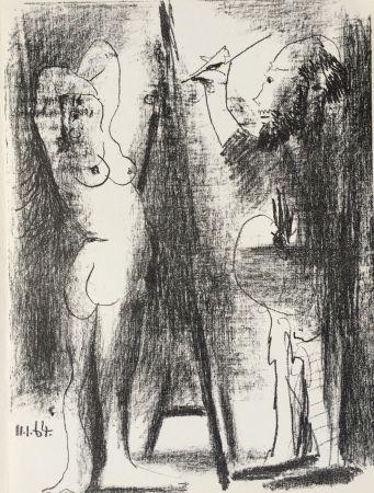 Litografia Picasso - Le Peintre et son Modele (B. 1846)