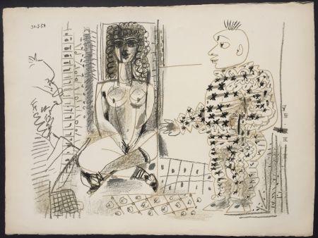 Litografia Picasso - Le Peintre et son Modele (B 765)