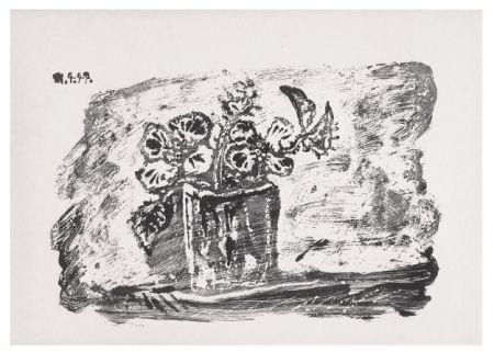 Litografia Picasso - Le Petit Pot de Fleurs