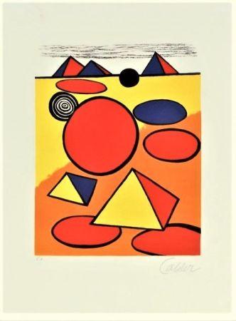 Litografia Calder - Le Petite Pyramids