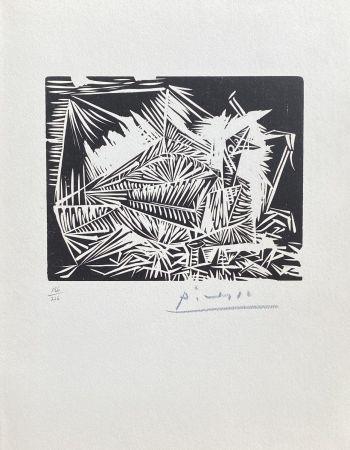 Linoincisione Picasso - Le Pigeonneau