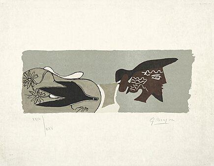 Litografia Braque - Le Poète