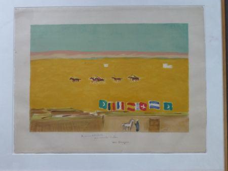 Litografia Van Dongen - Le polo à Alexandrie