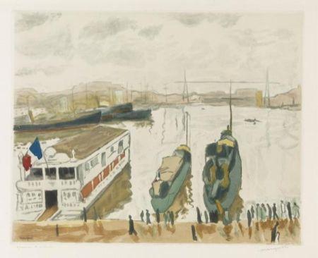 Acquaforte E Acquatinta Marquet - Le Port de Marseille. 1923-1924.