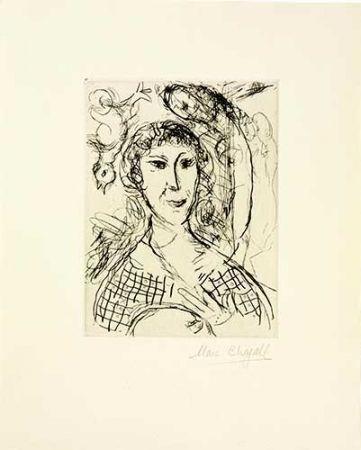 Incisione Chagall - Le portrait du peintre