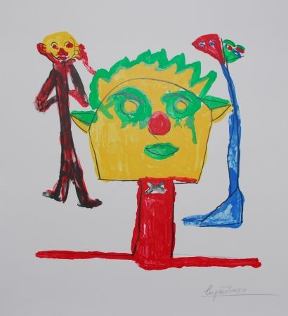Litografia Ionesco - Le portrait et ses fils