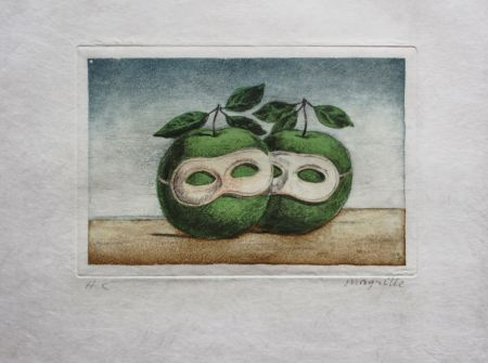 Acquaforte E Acquatinta Magritte - Le Prêtre Marie