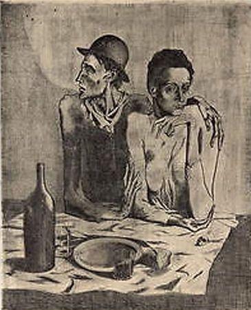 Litografia Picasso (After) - Le Repas Frugal