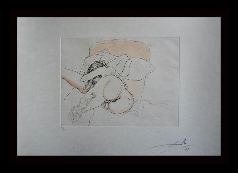 Incisione Dali - Le Repos du Guerrier