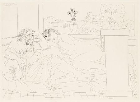 Acquaforte Picasso - Le repos du sculpteur 4