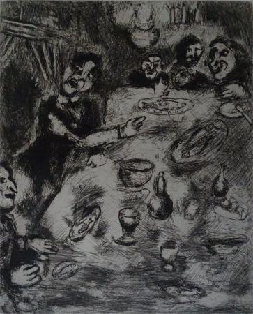 Acquaforte Chagall - Le Rieur et les Poissons