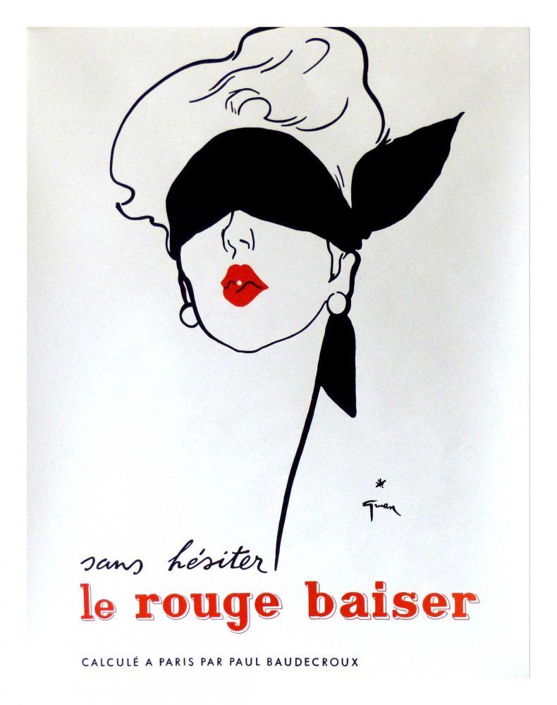 Manifesti Gruau - LE ROUGE BAISER