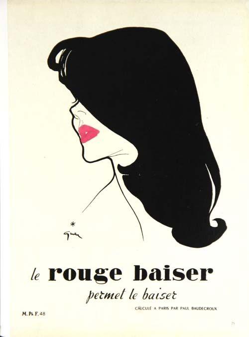 Offset Gruau - Le Rouge  Baiser  Permet le Baiser