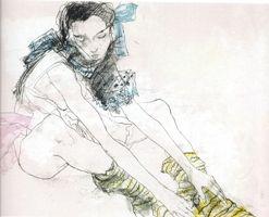 Litografia Jansem - Le ruban bleu